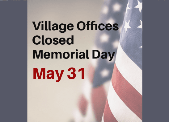 Offices closed Memorial Day WB