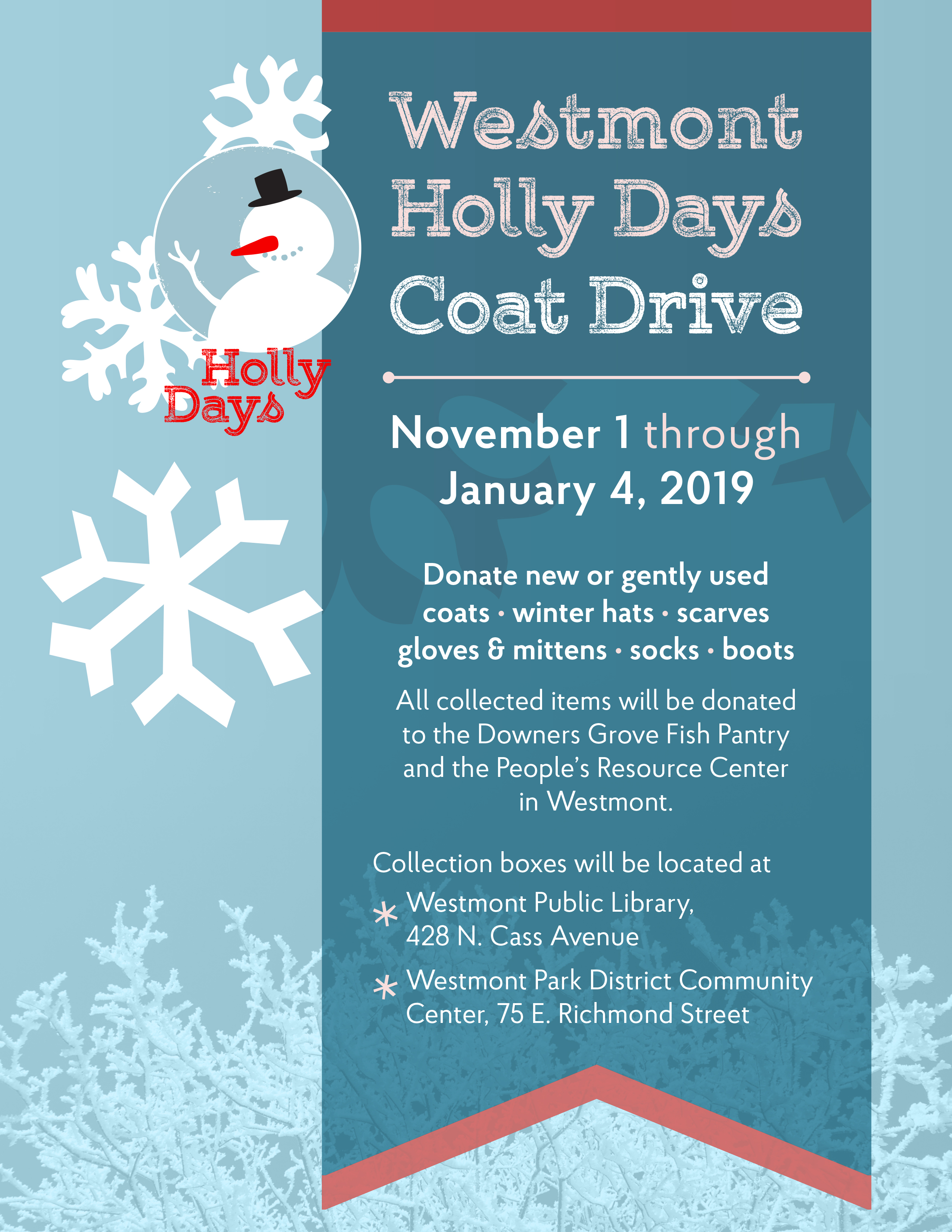 2018 Holly Days Coat Drive